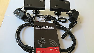 Compact wireless HDMI video sender, IR Contol and with 2 free HDMI Cables