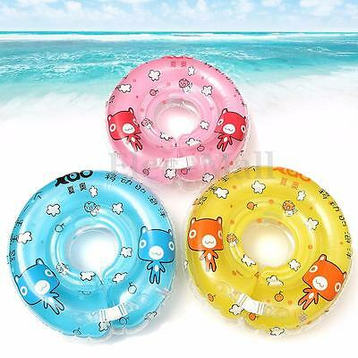 Safe New Born Baby Infant Swimming Pool Bath Neck Floating PVC Inflatable Ring