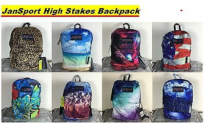 JanSport High Stakes Backpack School Bag Book Bags Superbreak 100% authentic