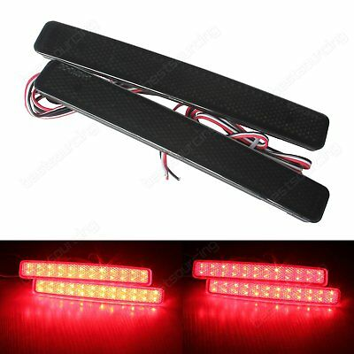 VW Transporter Caravelle Multivan T5 Black Lens LED Rear Bumper Reflector Light