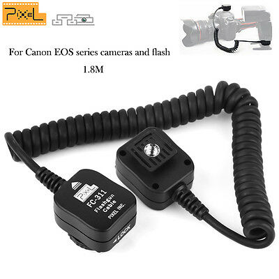 PIXEL FC-331/S1.8M TLL Off-Camera Cable Flash Sync  Cord Hot Shoe for Canon Eos