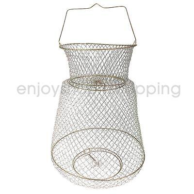 Foldable Metal Wire Spring Fish Lobster Mesh Fishing Net Crab Fish Basket