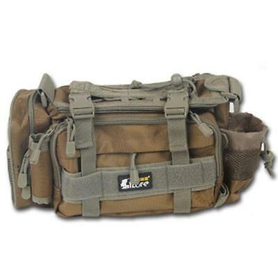 Outdoor Fishing Tackle Bag Waterproof Fish Storage Waist Shoulder Carry Bag