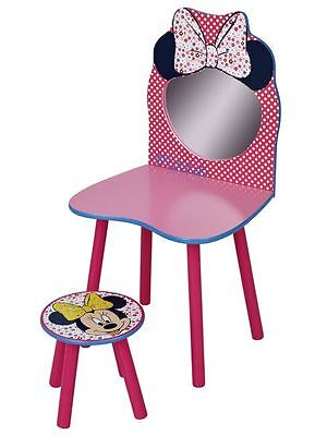 Minnie Mouse Dressing Table And Chair 100% Official Kids Free P+P New