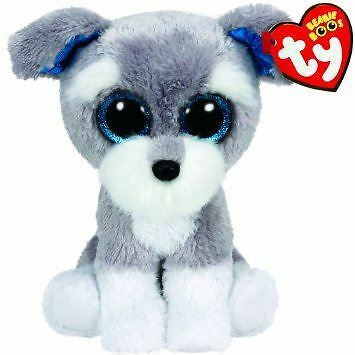 Ty Beanie Boo - Whiskers the Schnauzer Dog Collectible Cuddly Plush Toy