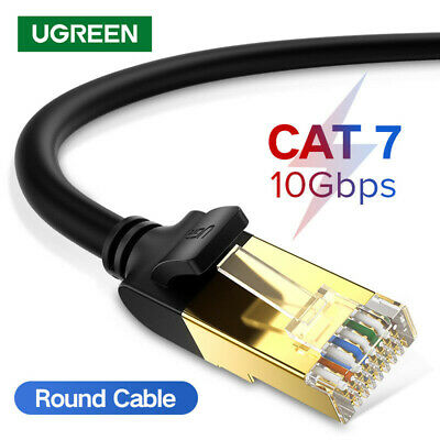 Ugreen Black High Speed Cat 7 RJ45 Ethernet Lan Network Cable SSTP for PC Laptop