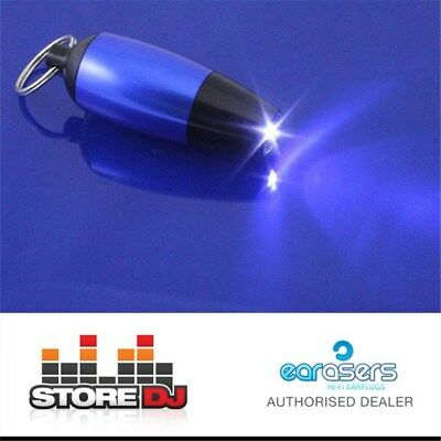 EARasers StoreDJ Carrying Case LED Light & Keyring (Blue) (Earplugs Not Included