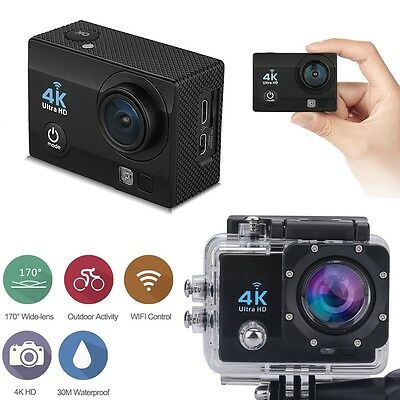 "16MP 4K FHD 1080P 2"" WIFI Sports Action Camera Video DVR DV Cam Bike Waterproof"