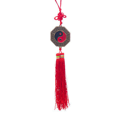 Chinese 5cm Bagua Mirror Knot Good Luck Wealth Health Pray Fengshui Hanger