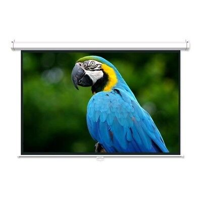 """92"""" 16:9 Manual pull down Retractable Projector Projection Screen HDTV 3D 1080p"""