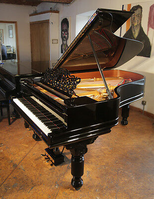 Restored, 1886, Steinway Model B grand piano with a black case