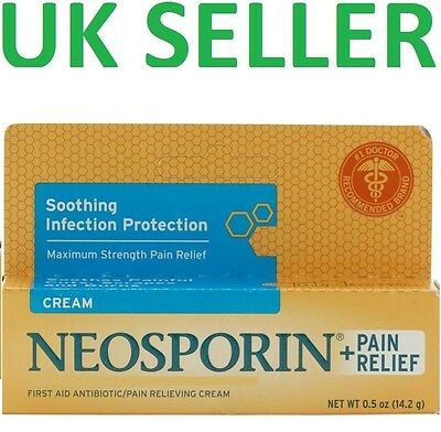 *UK* Neosporin Original Antibiotic CREAM + PAIN RELIEF First Aid Ointment 14g