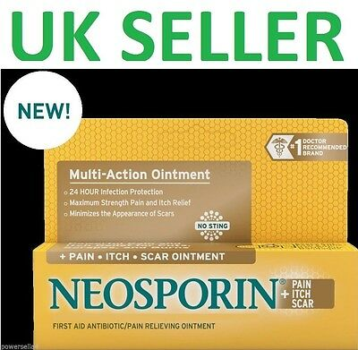 *UK* NEW- Neosporin SCAR+Pain+Itch Multi-Action Ointment Antibiotic First Aid