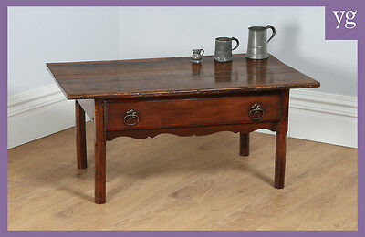 Antique French Provincial Country Chestnut Centre Drawer Occasional Coffee Table