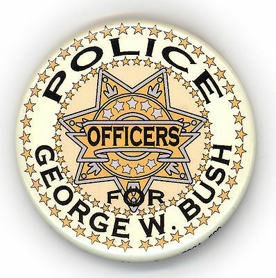 "* Guardfrog  ~ "" POLICE OFFICERS for GEORGE W BUSH "" ~  2004 Campaign Button"