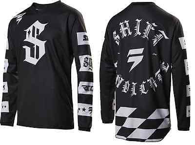 Shift Recon Checkers Black Jersey Motorcycle MX ATV Jersey 17216-001