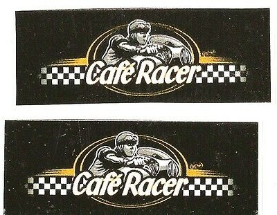 Sticker CAFE RACER 65mm x 25mm ( paire )