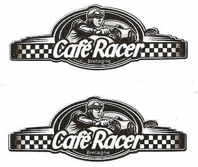 Sticker CAFE RACER bretagne 60mm x 22mm ( paire )