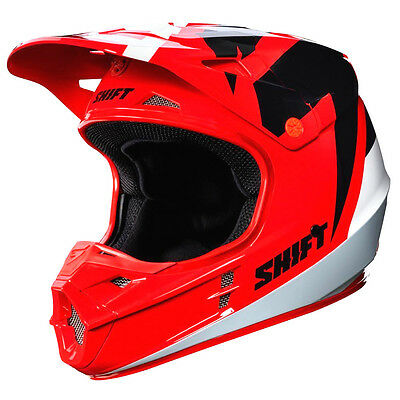 Shift WHIT3 label Tarmac Red Helmet Adult Motorcycle MX ATV  ECE DOT 17231-003