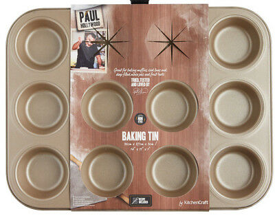 Paul Hollywood Bakeware Non Stick 12 Hole Muffin / Fairy Cake Baking Tin Tray
