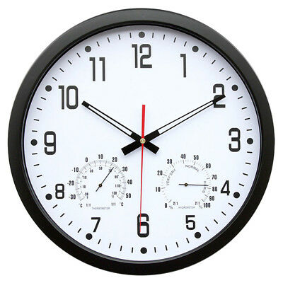 Retro Round Wall Clock • Quartz Silent Sweep Movement Home Bedroom Kitchen