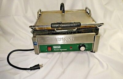 Waring WPG250 Panini Grill Sandwich Maker Genuine Used