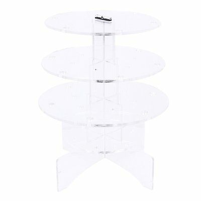 3-Tier 18 Holes Acrylic Lollipop Display Holder Stand 4/6mm---Clear ED