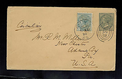1894 Sydney NSW Australia cover to New Chester PA USA