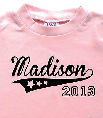 ALLSTARS!  Baby Girl Personalised Cotton T-shirt , Custom printed Gift