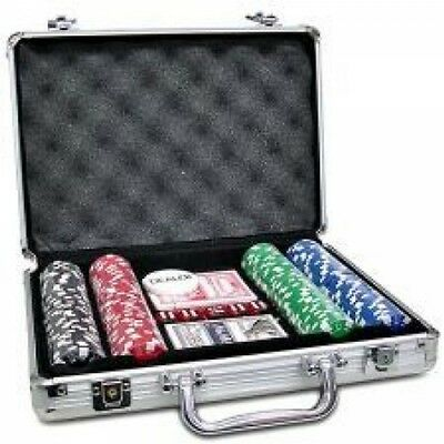 Set of 200 Poker Chip With Amazing Poker Case Play No Doubt Texas Hold'em Game