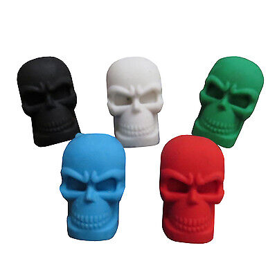 Bulk Lot x 5 Mixed Rubber Skull Erasers Kids Party Favors Novelty Stationery