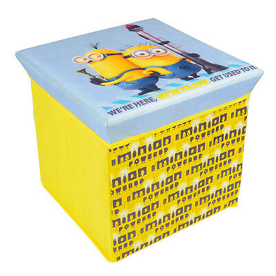 Despicable Me Minion Childrens Storage Stool Ottoman Kids Box Toy Chest Yellow