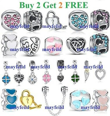 Silver Plated New Falling in Yours Charm Bead fit European Bracelet