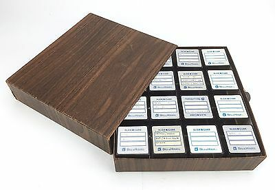 Vintage Bell & Howell & Omega Slide Cube Lot Library Storage Box 64 Total Cubes
