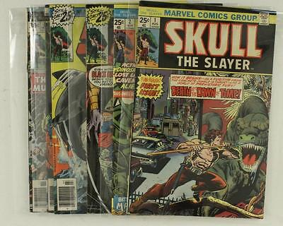 Vintage Bronze Age 1975 Marvel Comic Books 1975-76 SKULL THE SLAYER 1 2 5 6 7 8