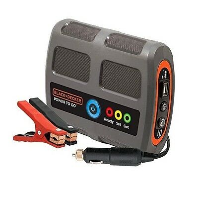 New Black & Decker Power To Go Lithium 12V 12 Volt Battery Booster P2G7Bca