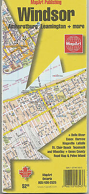 Windsor Ontario Map With Nearby Towns