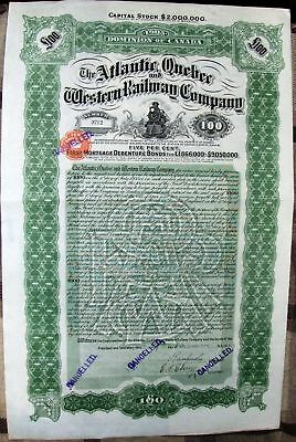 Stock certificate Erie Railroad Company from 1930's