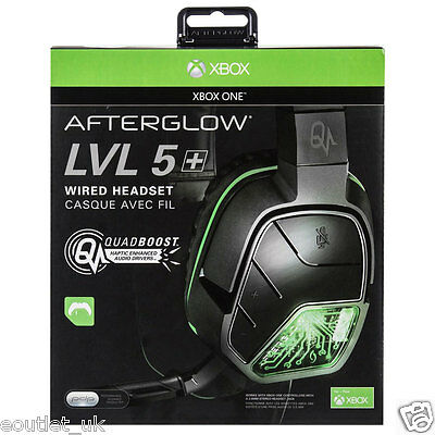 PDP Afterglow LVL 5 Plus Stereo Headset for Xbox One 1 NEW