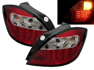 ASTRA H 2004-2009 5D Hatchback LED Tail Rear Light RED/CLEAR for VAUXHALL