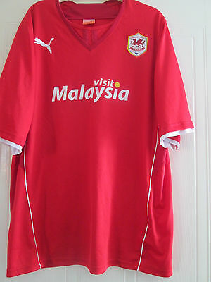 Cardiff City 2013-2014 Home Football Shirt Adult Size Extra Large /40446