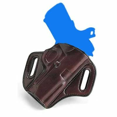 """Galco Con212H Concealable Leather Belt Holster - 1911 5"""" - Right Hand - Havana"""