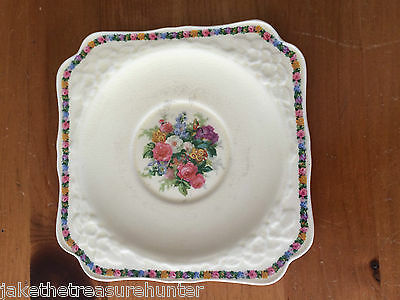 Vintage Crown Ducal Gainsborough Salad Square Plate 749657