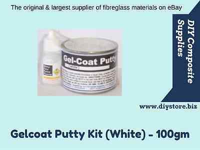 Gelcoat Putty - Fibreglass Repair Kit (White) - 100gm - FREIGHT PER DESCRIPTION