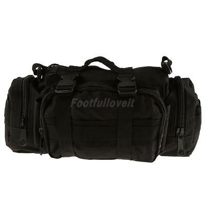 Army Military Tactical Waist Day Pack Shoulder Tote Bag Molle Camping Hiking