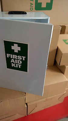 EMPTY First Aid kit metal wall mount box medical LARGE