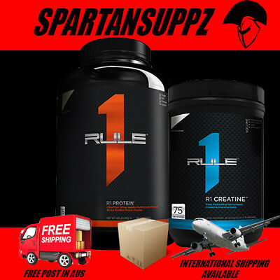 Rule 1 R1 PROTEIN WPI 1.1kg & CREATINE MONOHYDRATE Stack Strength Power Value