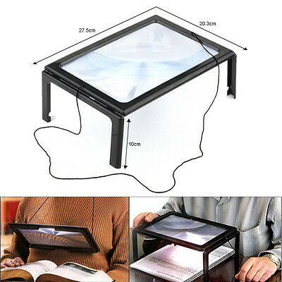 Giant Large Hands Free Magnifying Glass With Led Magnifier For Reading Aid Uk