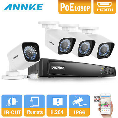 ANNKE 8CH HDMI DVR 1080P 2.0MP Outdoor Home CCTV Camera Security System Kit 2TB