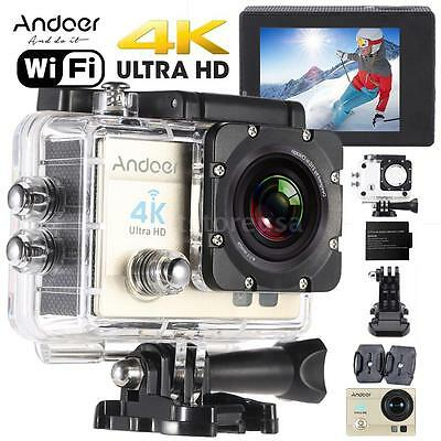 "Andoer 2"" Ultra-HD LCD 4K 1080P Wifi Wireless 16MP Action Camera Waterpr US D1Q1"